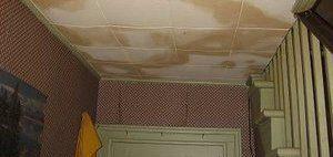 Water Damage Restoration of Ceiling